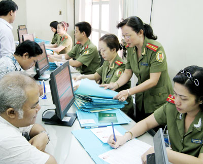 Immigration permit of Vietnam Immigration Department for stateless ones