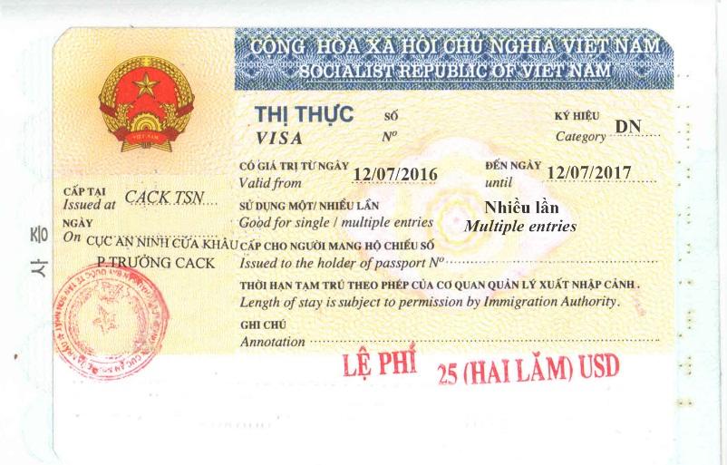 Vietnam business visa for Japanese